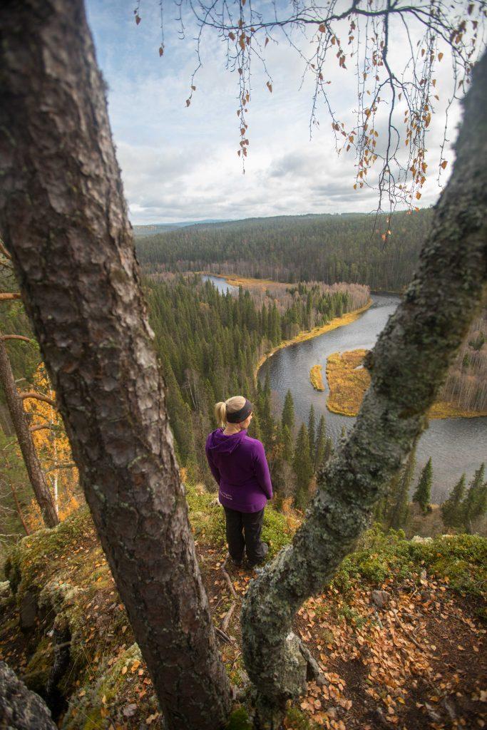 Oulangan kansallispuistosta löytyi näin hienot maisemat.